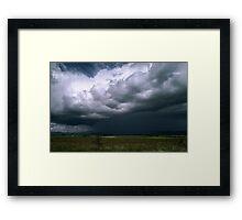 Storm over Mt Buller Howqua Valley 198710240009 Framed Print