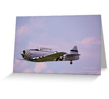 Paradise in flight WWII trainer (1) Greeting Card