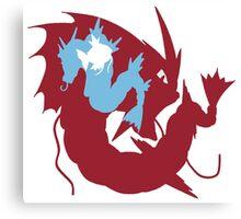 Pokemon At the Heart of Gyrados Canvas Print
