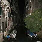 Venice Canal at Night by Judson Joyce