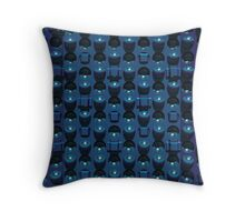 The blue wall Throw Pillow