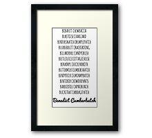 Britishguy Funnyname (Black words) Framed Print