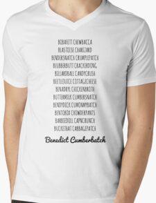 Britishguy Funnyname (Black words) Mens V-Neck T-Shirt