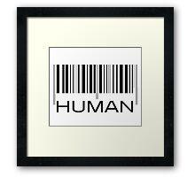 HUMAN Framed Print
