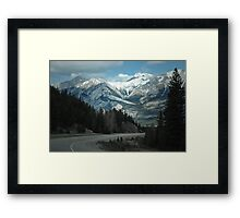 Mountains of Jasper National Park Framed Print
