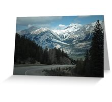 Mountains of Jasper National Park Greeting Card