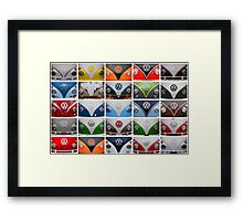 VW Multi Split screen Framed Print