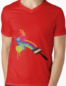 paint a rainbow Mens V-Neck T-Shirt