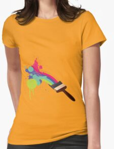 paint a rainbow Womens Fitted T-Shirt