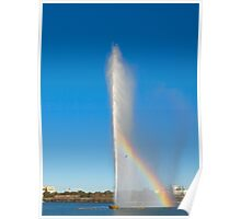 Captain Cook Memorial Jet (water jet), Canberra, Australian Capital Territory Poster