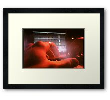 POV of a Laptop DJ Framed Print
