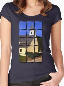 The village church of Niederranna | architectural photography Women's Fitted Scoop T-Shirt