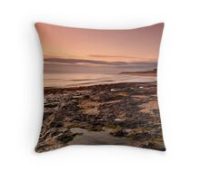 Bamburgh Castle at Dawn Throw Pillow