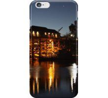 Wharf, Port of Echuca by night, Echuca, Victoria iPhone Case/Skin