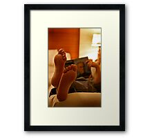 Feet Up Framed Print