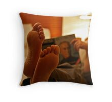 Feet Up Throw Pillow