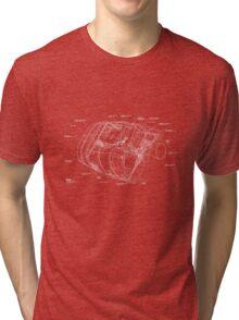 Space Shuttle Pod Schematic Tri-blend T-Shirt