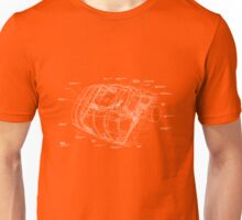 Space Shuttle Pod Schematic Unisex T-Shirt