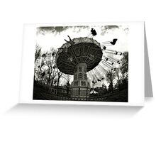Merry-go-round through the fisheye lens Greeting Card