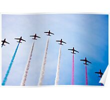 Red Arrows in formation Poster