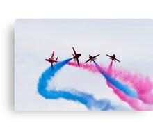Red Arrows stunt Canvas Print