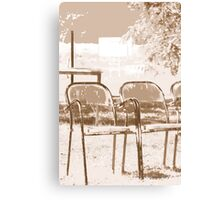 Empty Chairs © Canvas Print
