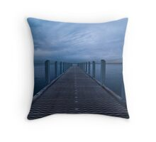 Sitting on the Dock of the Bay Throw Pillow