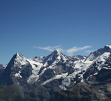 Eiger, Monch and the Jungfrau by mjdennison