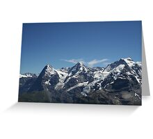 Eiger, Monch and the Jungfrau Greeting Card