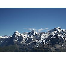 Eiger, Monch and the Jungfrau Photographic Print