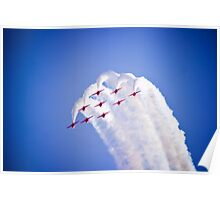 Red Arrows formation dive Poster