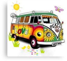 Love Bus Canvas Print
