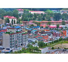 Small town in South Korea Photographic Print