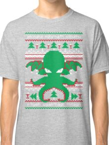 Cthulhu Cultist Christmas - Cthulhu Ugly Christmas Sweater Classic T-Shirt