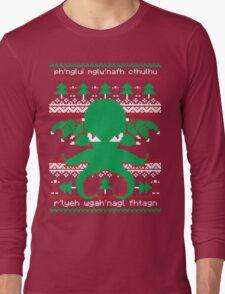Cthulhu Cultist Christmas - Cthulhu Ugly Christmas Sweater Long Sleeve T-Shirt