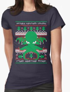 Cthulhu Cultist Christmas - Cthulhu Ugly Christmas Sweater Womens Fitted T-Shirt