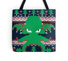 Cthulhu Cultist Christmas - Cthulhu Ugly Christmas Sweater Tote Bag