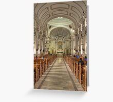 Inside View of Church in Philippines Greeting Card