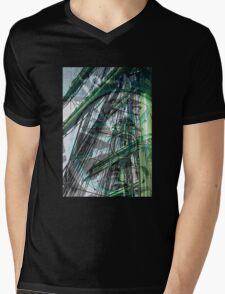 Sail Away - Green Mens V-Neck T-Shirt