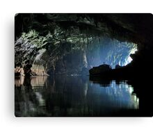 Gigantic Lao cave; where's Dave? Canvas Print