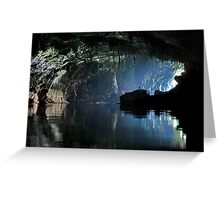 Gigantic Lao cave; where's Dave? Greeting Card