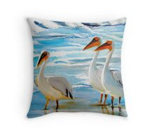 Pelicans Western Cape South Africa Throw Pillow