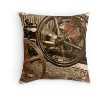 Old Steam Engine Vintage Look Throw Pillow
