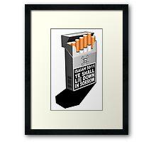 ISAIAH 50:11  A SMOKE SIGNAL Framed Print