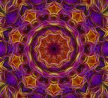 Purple and Caramel Kaleidoscope 88 by bloomingvine