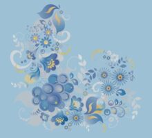 Blue flower and berries Kids Clothes
