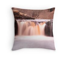 Waterfall, North Yorkshire Throw Pillow