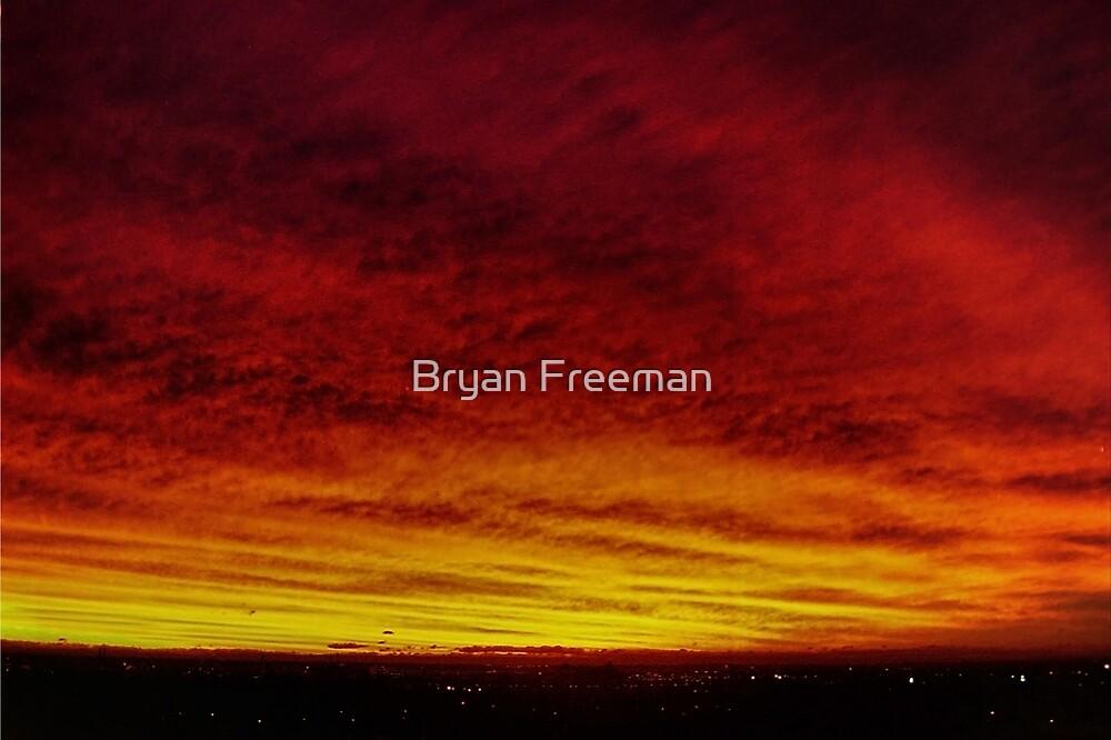 Fire In The Sky - Sydney - Australia by Bryan Freeman
