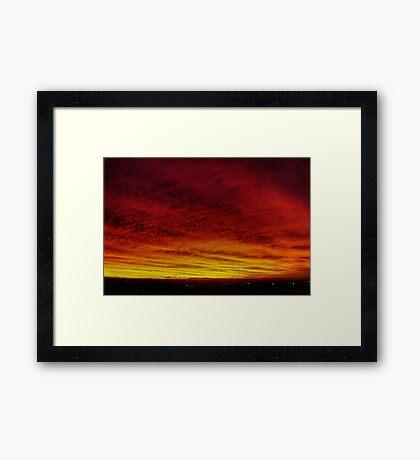 Fire In The Sky - Sydney - Australia Framed Print