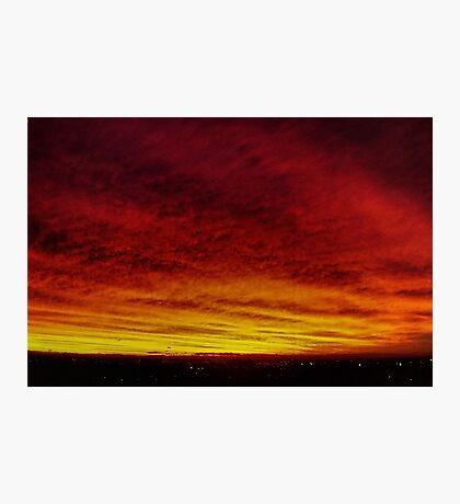 Fire In The Sky - Sydney - Australia Photographic Print